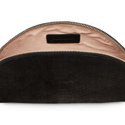 Warehouse, SUEDE EMBOSSED CLUTCH BAG Black 2