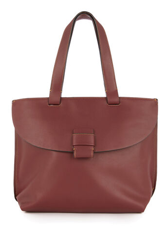 Warehouse, STITCH TAB CITY SHOPPER BAG Berry 0