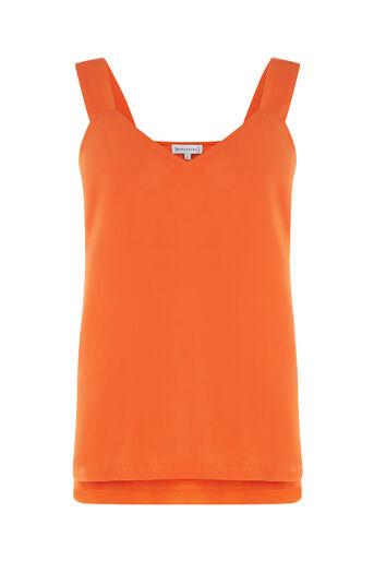 Warehouse, SATIN FRONT TIE CAMI Orange 0