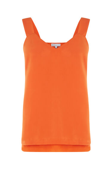 Warehouse, SATIN FRONT TIE CAMI Orange 0