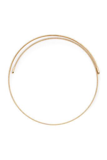Warehouse, FINE STRETCH CHOKER Gold Colour 0
