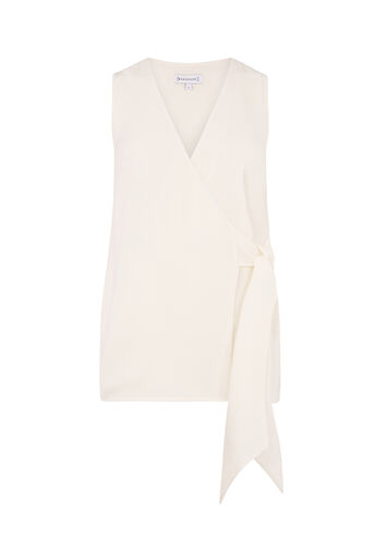 Warehouse, KNOT FRONT TOP Cream 0