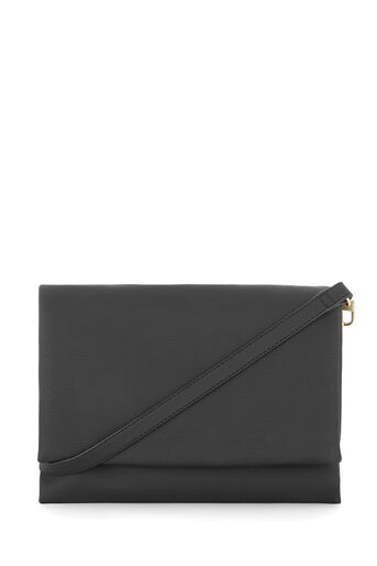 Warehouse, DOUBLE COMPARTMENT CROSSBODY Black 0