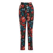 Warehouse, Botanical Floral Trousers Black Pattern 0