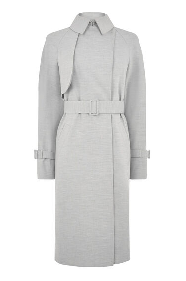 Warehouse, Belted Duster Light Grey 0
