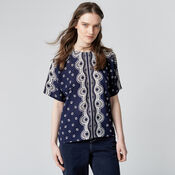Warehouse, BANDANA PRINT T-SHIRT Navy 1