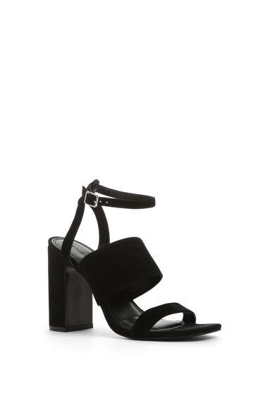 Warehouse, BLOCK STRAP SANDALS Black 1