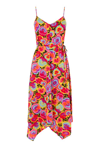 Warehouse, PANSY POP HANKY HEM DRESS Multi 0