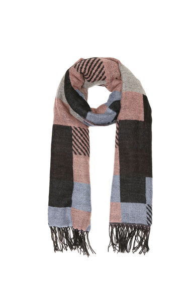 Warehouse, Mixed Check Scarf Multi 0