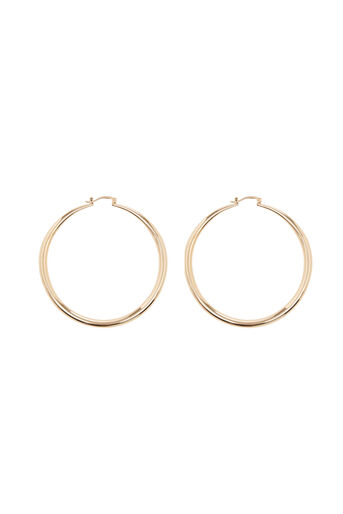 Warehouse, LARGE CHUNKY HOOP EARRING Gold Colour 0