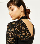 Warehouse, LACE TOP JUMPSUIT Black 4