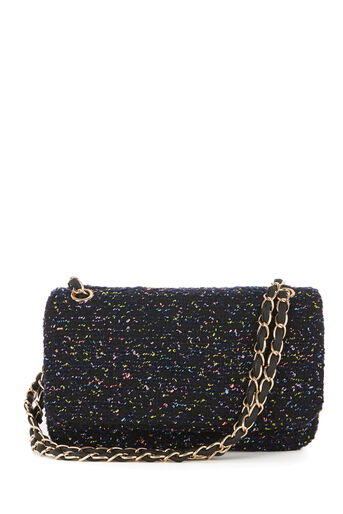 Warehouse, WEAVED CHAIN TWEED CROSSBODY Multi 0