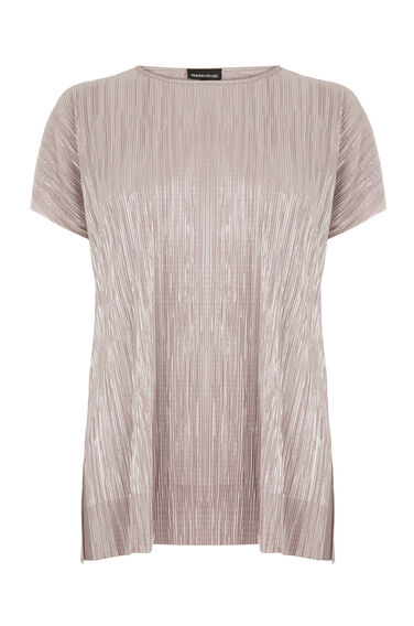 Warehouse, PLISSE TEE Light Pink 0