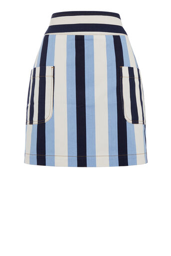 Warehouse, Stripe Pelmet Skirt Multi 0