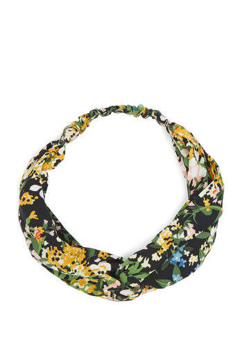 Warehouse, MEADOW PRINT HEADBAND Black 0