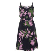 Warehouse, GRAPHIC PALM STRAPPY DRESS Blue Pattern 0