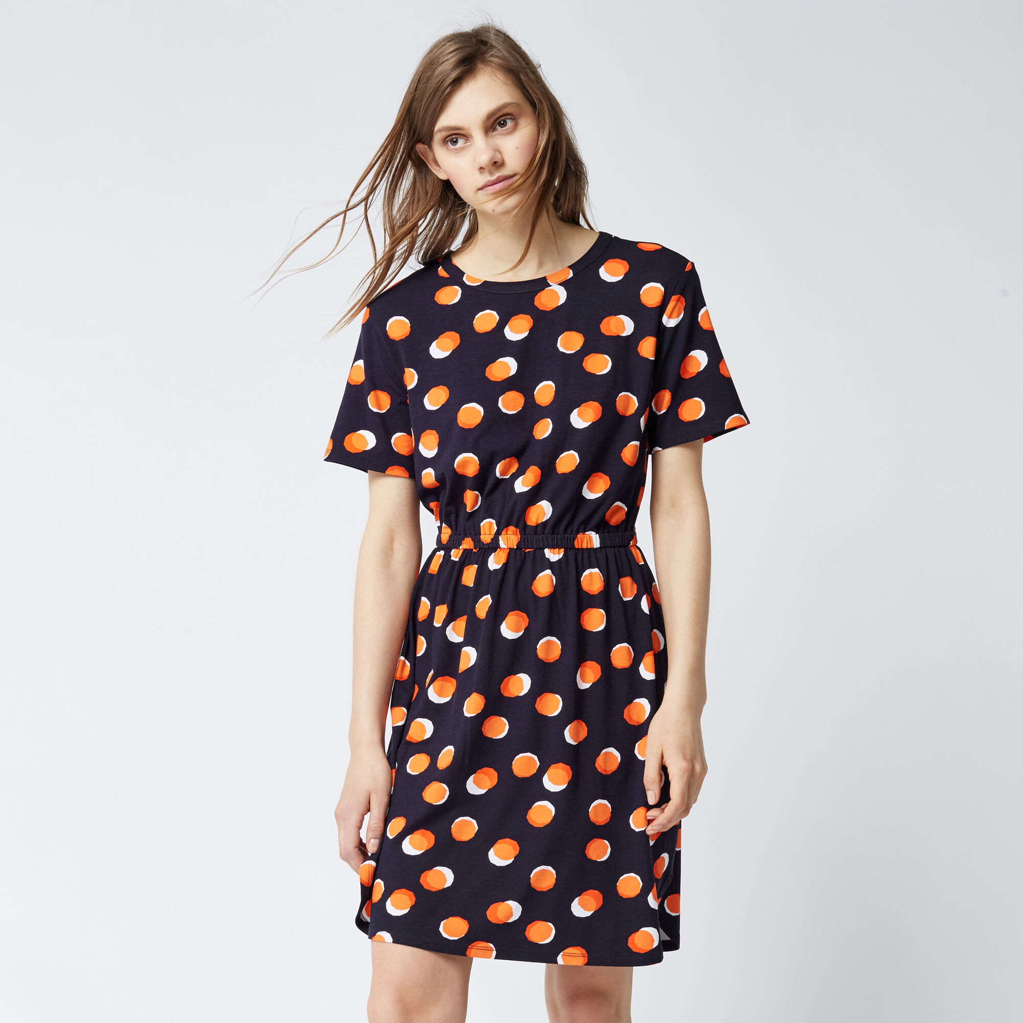 Warehouse, TOFFEE PENNY TEE DRESS Navy 1
