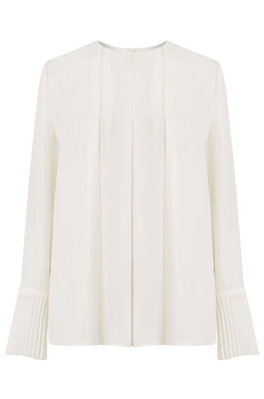 Warehouse, BOX PLEAT TOP Cream 0