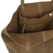 Warehouse, Leather Panelled Shopper Bag Tan 4