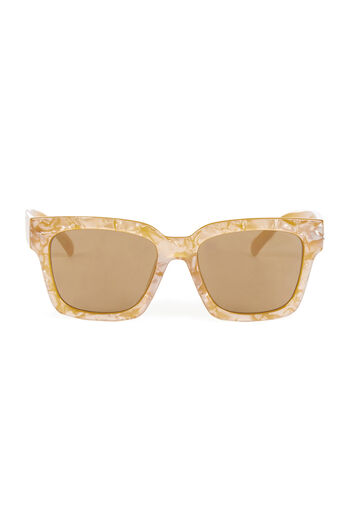 Warehouse, D Frame Sunglasses Yellow 0
