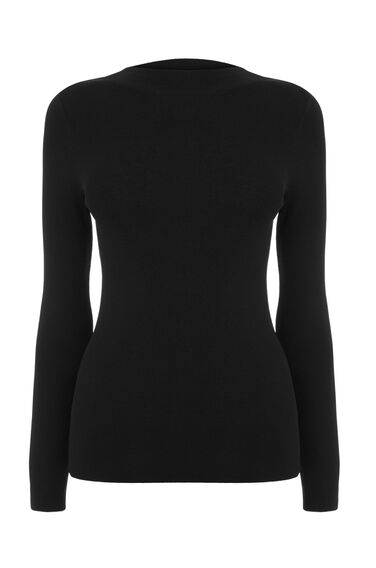 Warehouse, SLASH SLEEVE JUMPER Black 0