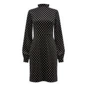 Warehouse, POLKA DOT VELVET DRESS Black Pattern 0