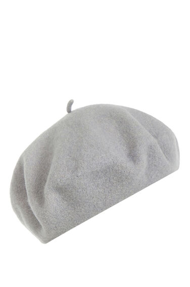 Warehouse, Beret Hat Light Grey 0