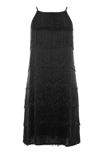 Warehouse, BEADED CAMI DRESS Black 0