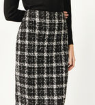 Warehouse, TWEED CHECK PENCIL SKIRT Multi 4