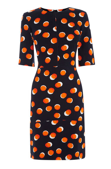 Warehouse, TOFFEE PENNY PONTE DRESS Multi 0