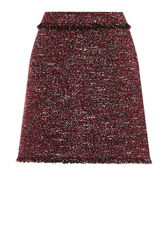 Warehouse, VICTORIA TWEED SKIRT Bright Red 0