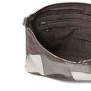 Warehouse, Leather Patchwork Crossbody Ba Light Grey 3