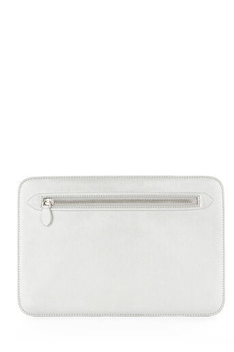 Warehouse, DISCO CLUTCH BAG Silver Colour 0
