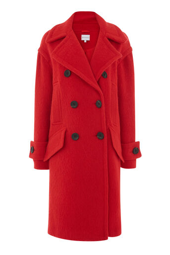 Warehouse, RED COAT Bright Red 0