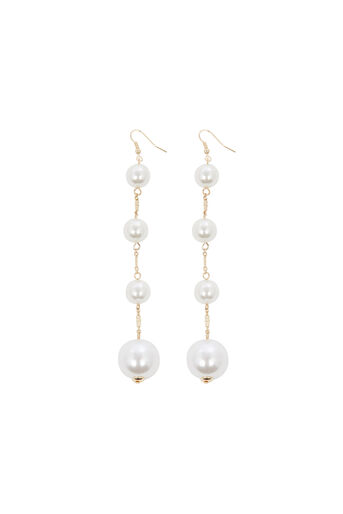 Warehouse, PEARL DROP ORB EARRINGS Gold Colour 0