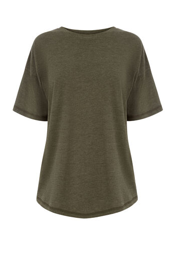 Warehouse, CASUAL TEE Khaki 0