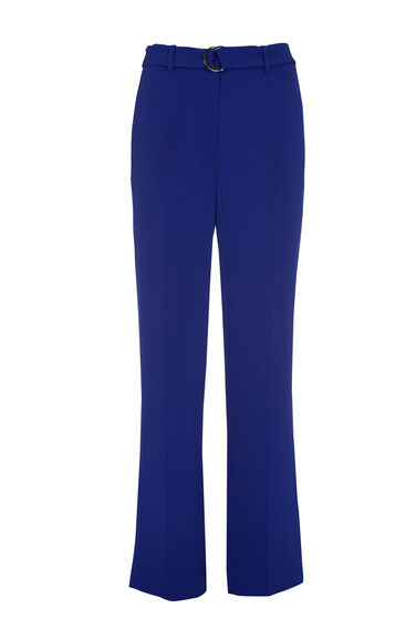 Warehouse, STRAIGHT LEG D-RING TROUSER Bright Blue 0