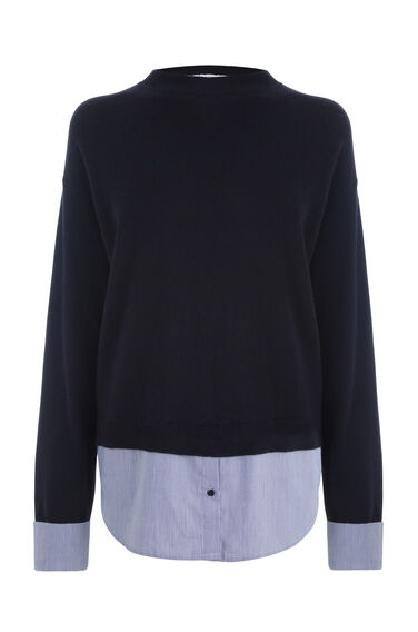 Warehouse, SPLIT BACK HYBRID JUMPER Navy 0