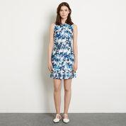 Warehouse, Shadow Leaf Textured Dress Multi 2