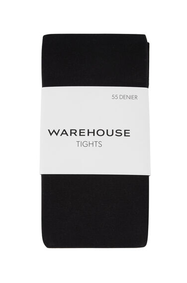 Warehouse, 55 DENIER TIGHTS Black 0