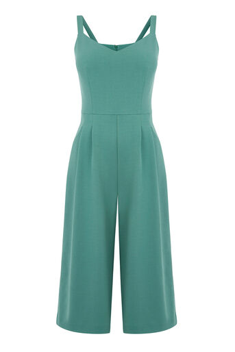 Warehouse, COMPACT CREPE JUMPSUIT Bright Green 0