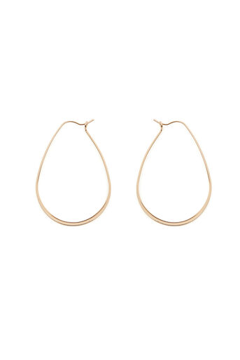 Warehouse, LARGE TEAR DROP EARRINGS Gold Colour 0