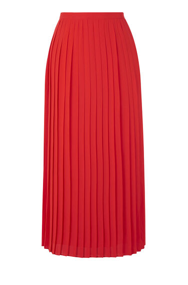 Warehouse, PLEATED SKIRT Bright Red 0
