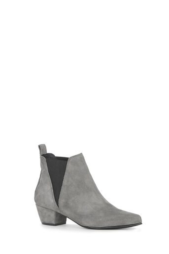 Warehouse, SUEDE ANKLE BOOT Light Grey 0