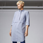 Warehouse, BRUSHED COTTON SHIRT DRESS Light Blue 1