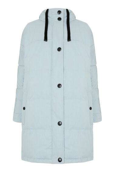 Warehouse, Oversized Padded Coat Light Blue 0
