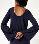 Warehouse, FLUTE SLEEVE CREPE DRESS Navy 4