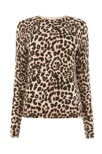 Warehouse, ANIMAL PRINT JUMPER Brown Print 0