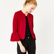 Warehouse, FLUTE SLEEVE JACKET Bright Red 4