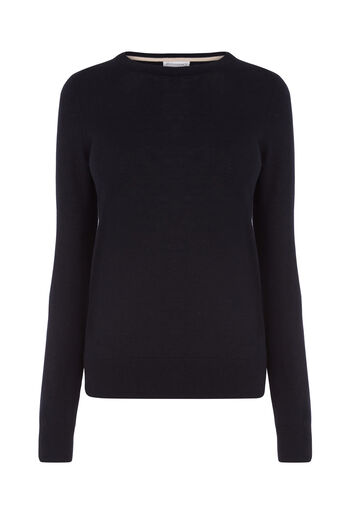 Warehouse, CREW JUMPER Navy 0